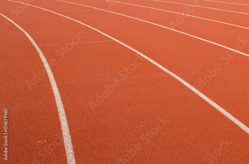 Poster Stadion Athlete Track or Running Track with nice scenic