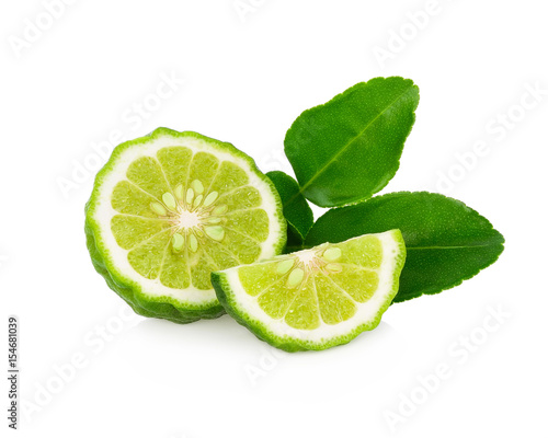 fresh bergamot fruit isolated on white background Canvas Print