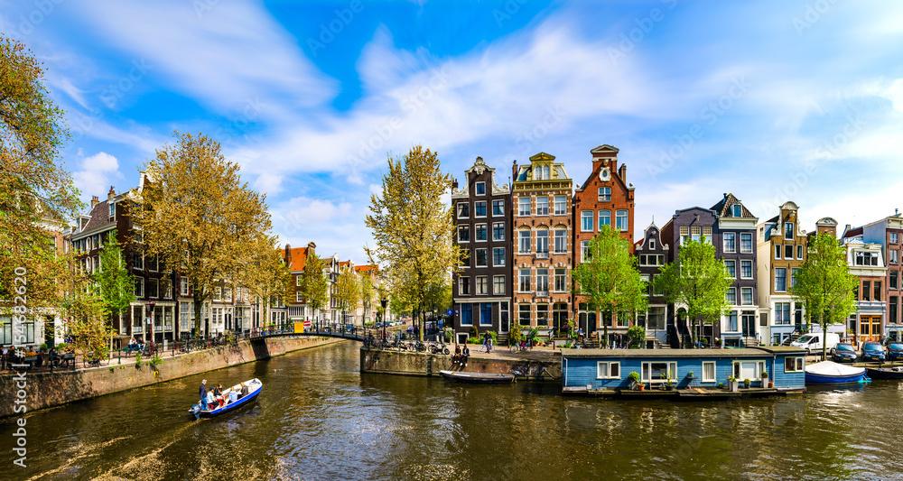 Fényképezés Amsterdam, Holland: Spring sunny day in the city