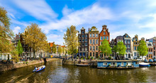 Amsterdam, Holland: Spring Sun...