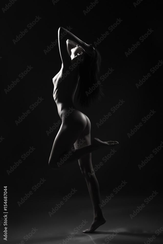 Fototapety, obrazy: silhouette of the naked girl