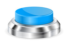 Blue Push Button With Metal Base