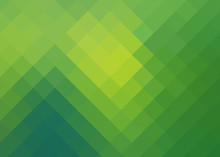 Background With Yellow-green Of Rhombuses With Reflections