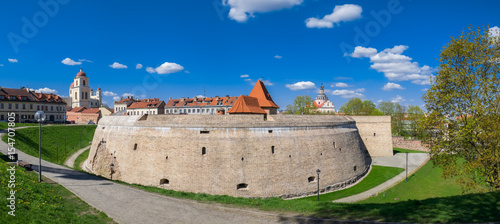 Photo Old artillery Bastion in old town of Vilnius, Lithuania.
