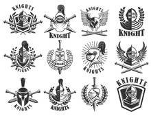 Set Of Knight Emblems. Design ...