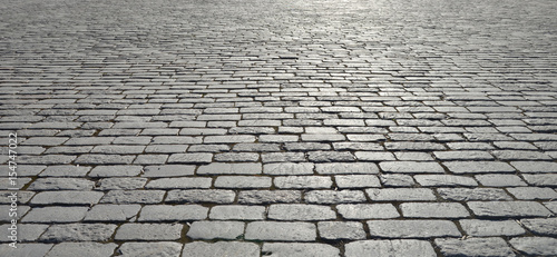 Old cobblestone pavement. Canvas-taulu