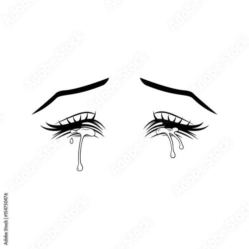 Płaczące oczy. Styl Manga