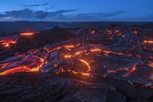 Flowing Lava In Hawaii