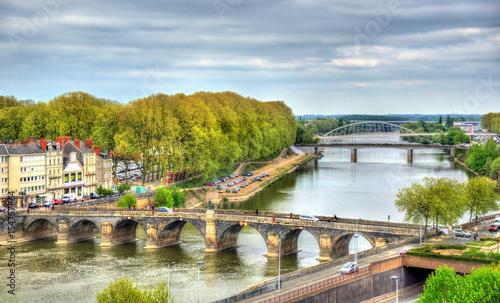 Pont de Verdun, a bridge across the Maine in Angers, France Wallpaper Mural