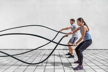 Fitness People Exercising With...