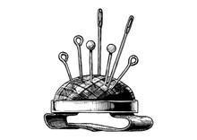 Hand Drawn Illustration Of Pin Cushion