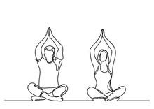 Man Woman Doing Yoga - Continu...