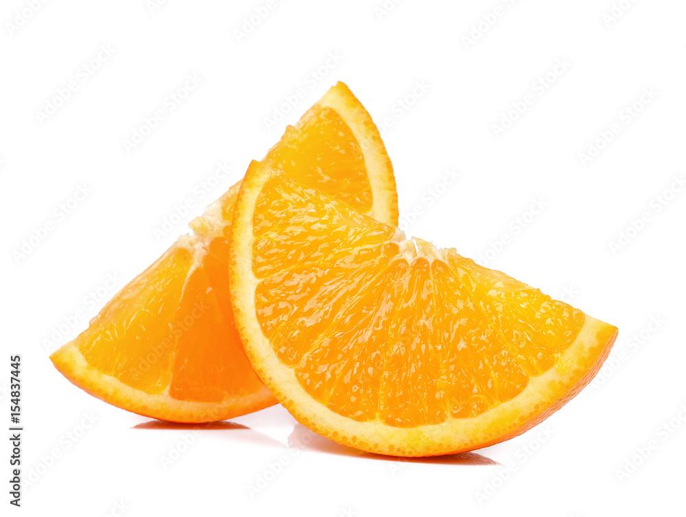 Fototapety, obrazy: Slice of Orange isolated the white background