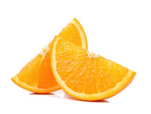 Slice Of Orange Isolated The W...