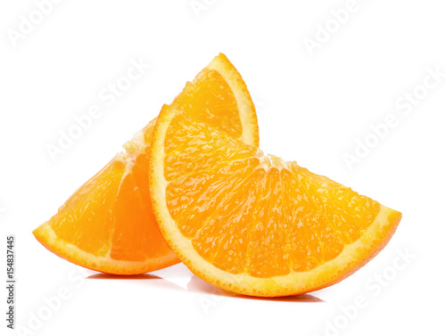 Fotografía  Slice of Orange isolated the white background