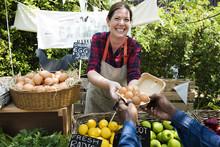 Greengrocer Selling Organic Fr...