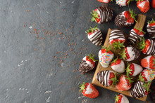 Strawberries Covered With Choc...
