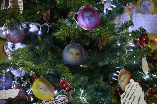 Christmas Decorations With The Pictures Of The 43 Missing