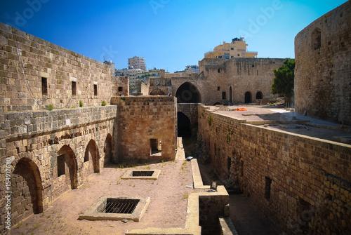 Panorama of Citadel of Raymond de Saint-Gilles aka Pilgrim Hill in Tripoli, Lebanon
