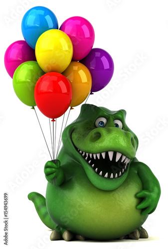 Photo  Fun dinosaur - 3D Illustration