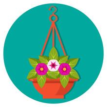 Hanging Flower Basket With Pet...