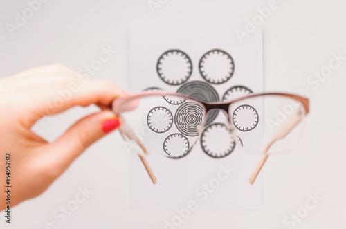 Check for astigmatism Wallpaper Mural