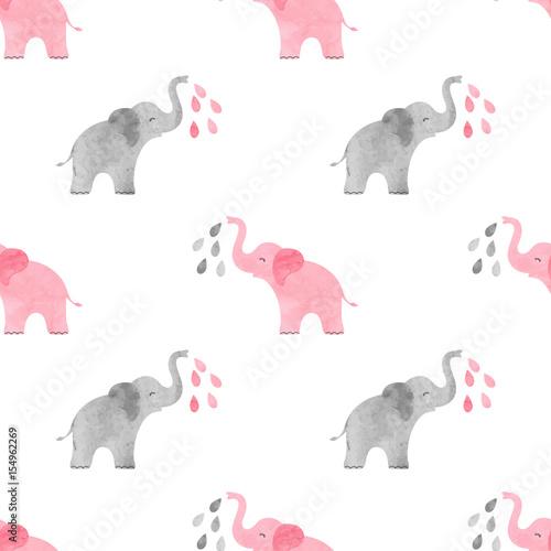 kolorowe-slonie-polewajace-sie-woda-wzor-malowany-akwarela
