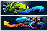 Fototapeta Młodzieżowe - Graffiti Arrows Banners