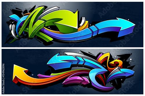 Plakat Graffiti Arrows Banery