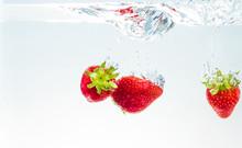 Red Fresh Fruit Strawberries F...