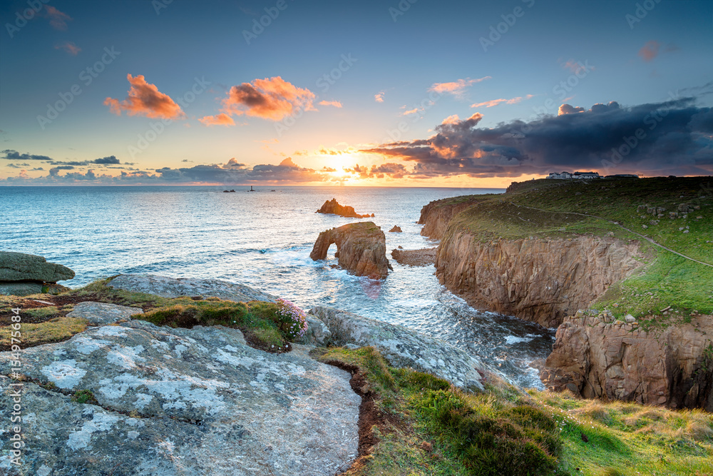 Fototapety, obrazy: Land's End in Cornwall