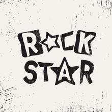 Rock Star Grunge Text