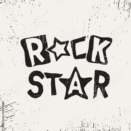 rock star grunge text Canvas-taulu