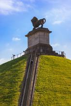 Lion Mound Monument In Waterloo Belgium
