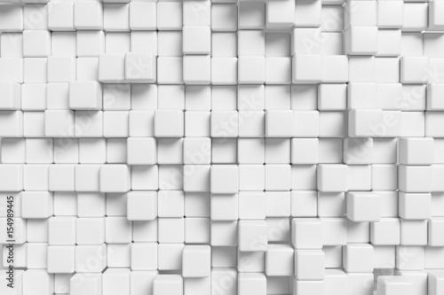 Zdjęcie XXL Abstrakcjonistyczna biała sześcianu ściana, 3d tło