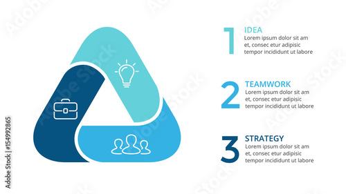 Fotografia Vector circle arrows triangle infographic, cycle diagram, graph, presentation chart