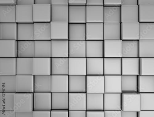 Cube Blocks Wall Background. 3d Render Illustration