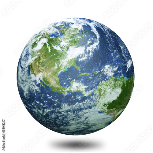 Photo Earth globe 3d render