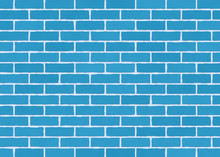 Blue Brick Wall.