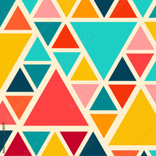 obraz dibond Colorful trendy triangle pattern