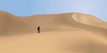 Désert - Dune - Aventure - Désert De Sable - Randonnée - Solitude - Panorama