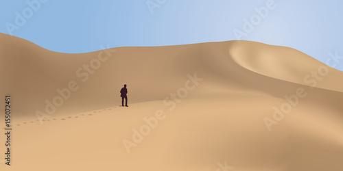 Fotografie, Obraz désert - dune - aventure - désert de sable - randonnée - solitude - panorama