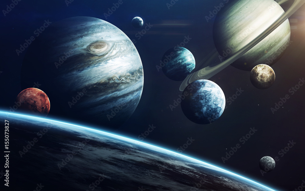 Fototapety, obrazy: Planets of Solar system. Elements of this image furnished by NASA