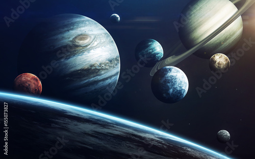Obraz Planets of Solar system. Elements of this image furnished by NASA - fototapety do salonu