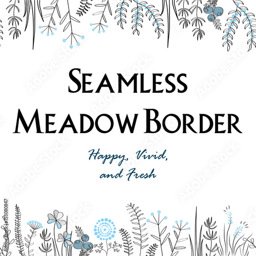Meadow herbs seamless borders background illustration for posters meadow herbs seamless borders background illustration for posters greeting cards and other printing m4hsunfo