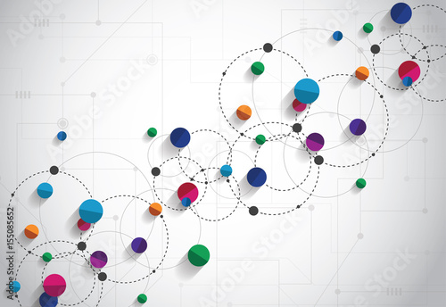 Fényképezés  Vector technology concept
