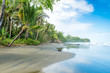 Playa Negra - black beach at Cahuita, Limon - Costa Rica - tropical and paradise beaches at caribbean coast