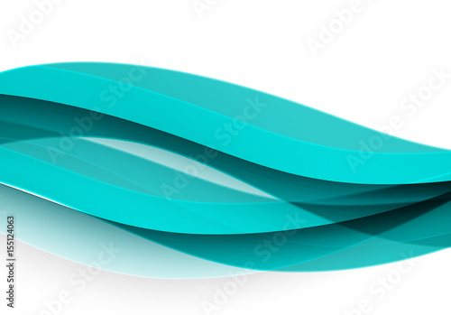 Fototapety, obrazy: Abstract vector background, blue wavy