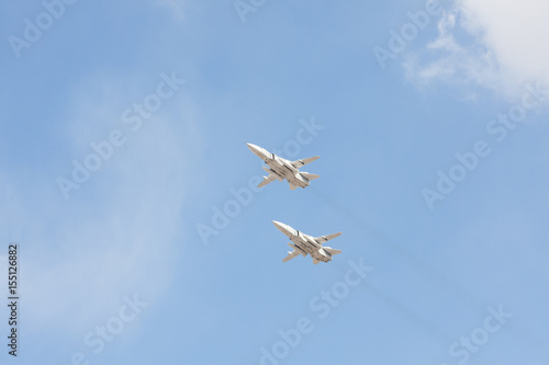 Fotografía Russian fighters in the sky on the feast of victory day on 9 may