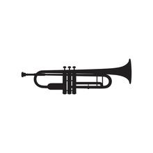 Trumpet Icon On White Background